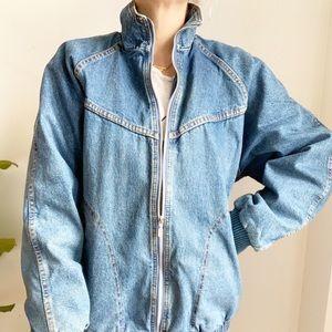 Vintage 80's Blue Denim Jeans Jacket Size L